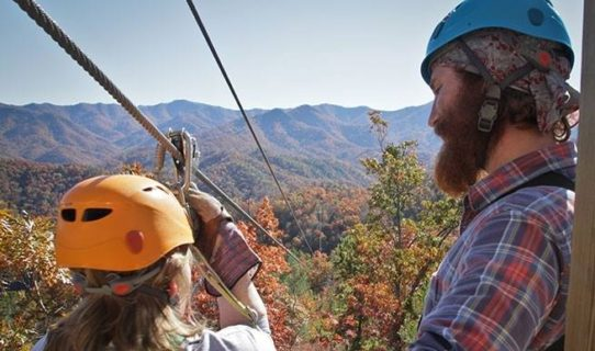 zipline in smokies